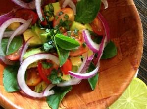 salada de abacate mexicana