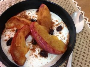iogurte grego com maçã