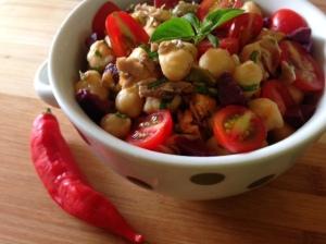 salada da grão de bico